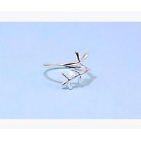Nhẫn hở mạ bạc  thiết kế nhiều kiểu Hàn Quốc S925 nhẫn ngôi sao nhẫn trái tim đan chéo và nhẫn gơn sóng