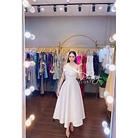 Đầm xoè dự tiệc lệch vai hoa TRIPBLE T DRESS - size M/L -MS257V