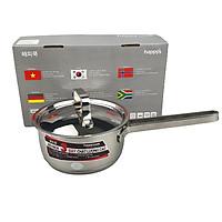 Quánh inox 3 đáy từ size 16cm Happycook, nắp inox, sử dụng được trên mọi loại bếp-hàng chính hãng