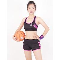 Bộ đồ ngắn thể thao nữ áo bra phối viền kèm mút-DN2