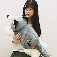 Gấu bông cao cấp chó sói xám - Size 65cm