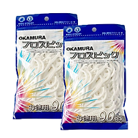Combo 2 gói tăm chỉ nha khoa cao cấp Nhật bản - Okamura