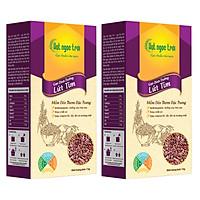 Combo 2 sản phẩm  Gạo Lứt Tím Hạt Ngọc Trời Hộp 1Kg - Cơm mềm dẻo, thơm đặc trưng - Hỗ trợ giảm cân, tiểu đường