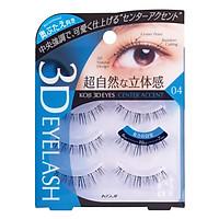 Lông Mi Giả Hiệu Ứng 3D Tự Nhiên Koji 04 Center Accent, Dài Mi Giữa Mắt Tạo Sự Dễ Thương, To Tròn (Cho Mắt Mí Lót), Nhập Khẩu Nhật Bản