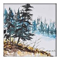 Tranh sơn dầu forest 30x30