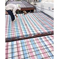 Bạt sọc xanh -trắng -cam dùng trong công trình xây dựng , trại, nhà, che đậy các vật dụng.
