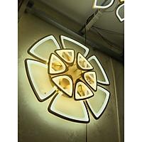 Đèn trần Aluwin 12 cánh tai voi 2 tầng 9 chế độ ánh sáng, điều khiển từ xa