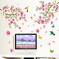 Decal dán tường cành đào hồng - HP02