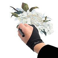 Huion GL200 Two-finger Free Size Drawing Glove Lightweight Sweatproof Artist Glove for Huion Graphics Tablet Graphic