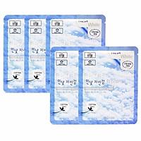 Combo 5 Mặt nạ tuyết dưỡng trắng da 3W Clinic Fresh White Mask Sheet 23g x 5