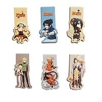 Bộ 6 Đánh Dấu Sách Bookmark Nam Châm Naruto Truyền Nhân Cửu Vỹ Hồ