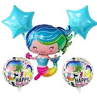 Combo bong bóng Nàng tiên cá chibi trang trí sinh nhật