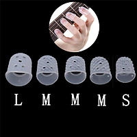 5pcs Finger Cover Anti-slip Hands Coat Relief Play Pain Gloves for Ukulele Electric Acoustic Guitar Stringed Musical Instrument