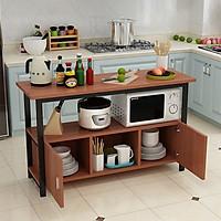 Kệ bếp đa năng 160 loại mặt gỗ lõi xanh phủ melamine chống nước, khung thép sơn tĩnh điện chống gỉ và bong tróc, loại tốt chịu lực cao