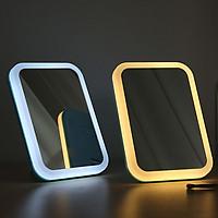 Gương trang điểm đèn led 3 chế độ sáng