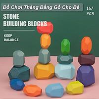 Đồ Chơi Thăng Bằng Gỗ cho bé Balance 16 Blocks Colorful