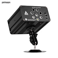 ammoon IGB-T813 Aurora Strobe Stage Light 128 Combinations 8 Holes RGBW Sound Activated for Music Show DJ Stage Bar Club