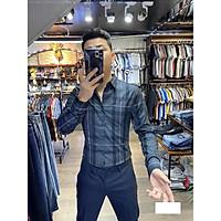 Áo sơ mi nam lụa sọc caro Julido Store, xu hướng mới nhất năm 2020 BZ02