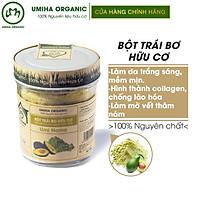 Bột Trái Bơ Nguyên Chất UMIHOME (125g) - Dùng cho đắp mặt, dưỡng trắng da, loại bỏ mụn hiệu quả