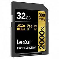 Thẻ Nhớ Lexar SDHC Professional 2000x 32GB UHS-II 300MB/s - Hàng Chính Hãng