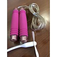 Dây Nhảy Thể Dục Sợi Cáp loại tốt- Tặng kèm quạt USB ( quạt màu ngẫu nhiên)