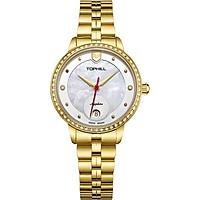 Đồng hồ nữ mặt xà cừ chính hãng Thụy Sĩ TOPHILL TE037L.M2237