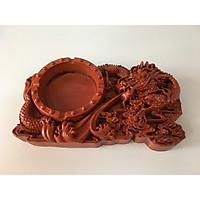 Gạt tàn đục rồng tinh xảo gỗ hương