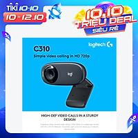 Logitech C310 HD Webcam 720P Video Call Web Cam Desktop Laptop Monitor Webcam Widescreen Web Camera With Noise-Reducing