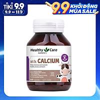 Viên Uống Milk Calcium Healthy Care Bổ Sung Canxi Cho Trẻ Trên 4 Tháng Tuổi, 60 viên, Hỗ Trợ Phát Triển Xương và Răng Giúp Cao Lớn và Khỏe Mạnh, Bé Hết Khóc Đêm, Rụng Tóc, Tóc Dựng Ngược - Ăn Ngon Ngủ Ngoan