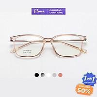 Gọng kính cận mắt chữ nhật Elmee chất liệu nhựa dẻo thanh mảnh thời trang nam nữ nhiều màu xu hướng - E8161