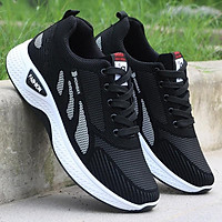 Giày thể thao nam Fashion viền đỏ đen phong cách - Giày sneaker nam chạy bộ giá siêu rẻ