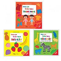 Combo 3 cuốn Cùng chơi trốn tìm 4 trang phục +5 trái cây +6 động vật (Tặng kèm bookmark AHA)