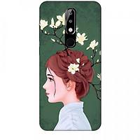 Ốp lưng dành cho điện thoại NOKIA 5.1 Plus Cô Gái Tóc Hoa