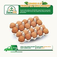 [FARMVILL] [Chỉ Giao HCM] - Combo 2 Vỉ Trứng Gà Công Nghiệp - 1 Vỉ 10 Quả