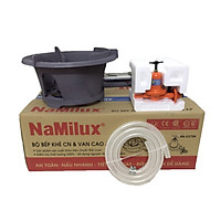 Bộ bếp gas công nghiệp NaMilux NA-196 kèm van cao áp NA-537SH, tặng 1.5m dây gas công nghiệp và 02 đai thép - Hàng chính hãng