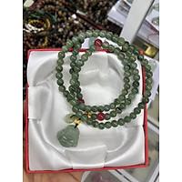 Vòng đeo tay, lắc tay phong thủy chuỗi hạt quấn 3 vòng đá ngọc Jade