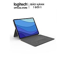 Bàn phím kèm bao da Logitech Combo Touch for iPad Pro 12.9inch (gen 5) - Hàng chính hãng
