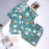 Mẫu mới về Bộ ngủ quần cộc áo cộc pijama kate thái cực hot hit bộ pyjama bộ pizama