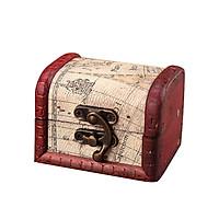 Jewelry Box Vintage Wood Handmade Box With Mini Metal Lock For Storing Jewelry Treasure Pearl