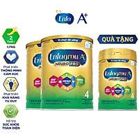 Bộ 2 lon sữa bột Enfagrow A+ Neuropro 4 Vị thanh mát với dưỡng chất DHA & MFGM cho trẻ từ 2–6 tuổi- 1.7kg - Tặng 1 lon 830g