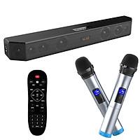 Loa thanh 5.1 nghe nhạc kết nối Bluetooth Amoi L9 Kèm 2 Micro karaoke không dây - Hàng nhập khẩu