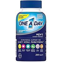 Viên Uống One A Day Bổ Sung Vitamins A, C, E, B1, B2, B6, B12, Canxi & Vitamin D Cho Nam (200 Viên)