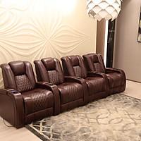 Bộ sofa phòng chiếu 4 ghế 5 tay vịn thông minh cao cấp nhập khẩu UY-110CM