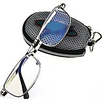 Men Women Folding Reading Glasses Eyeglasses Metal Frame with Keychain Glasses Bag 1.0 -4.0