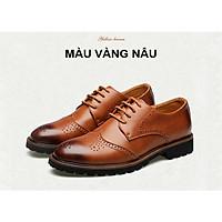 Giày tây giày doanh nhân giày giám đốc da thật phong cách Anh Quốc năm 2021 Mã 6055
