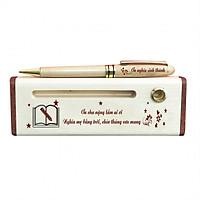 Bút - Hộp bút gỗ (Ơn cha nặng lắm ai ơi) - WG3