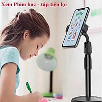 Giá đỡ điện thoại đa năng, Giá đỡ điện thoại để bàn, kẹp chống lưng 360 ,đế chân tròn để bàn