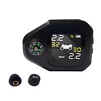 Máy đo áp suất lốp xe máy 2-in-1 Motorcycle Tire Pressure Monitoring System LCD