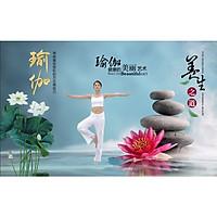 Tranh dán tường phòng tập Yoga TC80