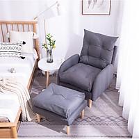 Ghế sofa kèm đôn cao cấp - Sofa ghế đơn tặng kèm đôn - Ghế salon điều chỉnh 3 chế độ